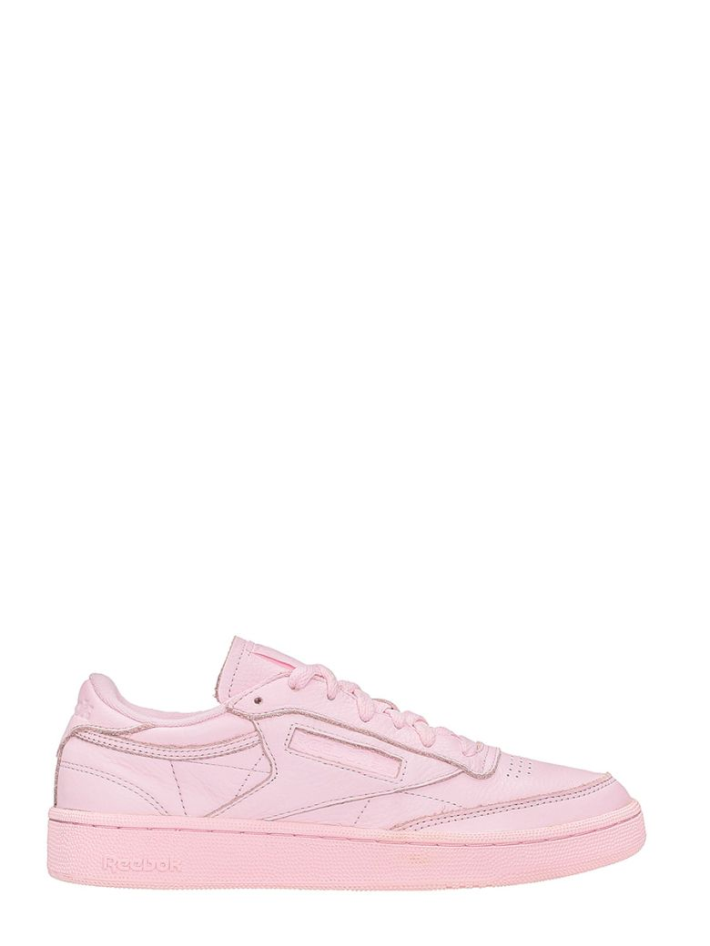 CLUB C85 ELM PINK LEATHER SNEAKERS