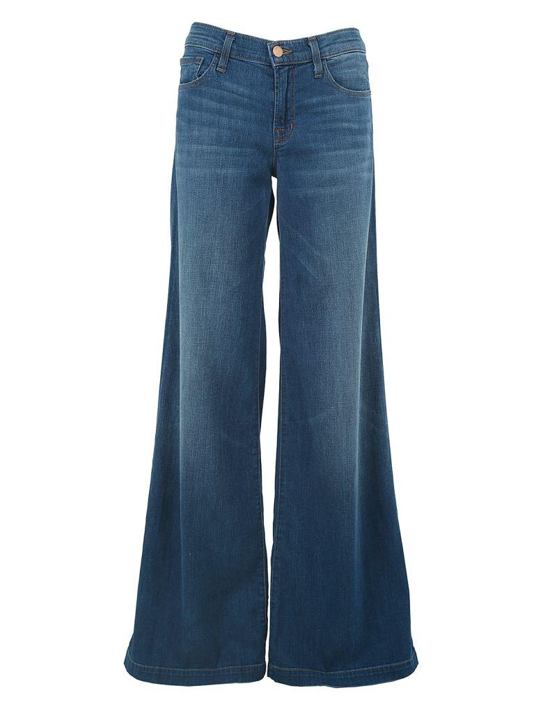 J Brand Lynette Super-wide Low-rise Jeans - Blu