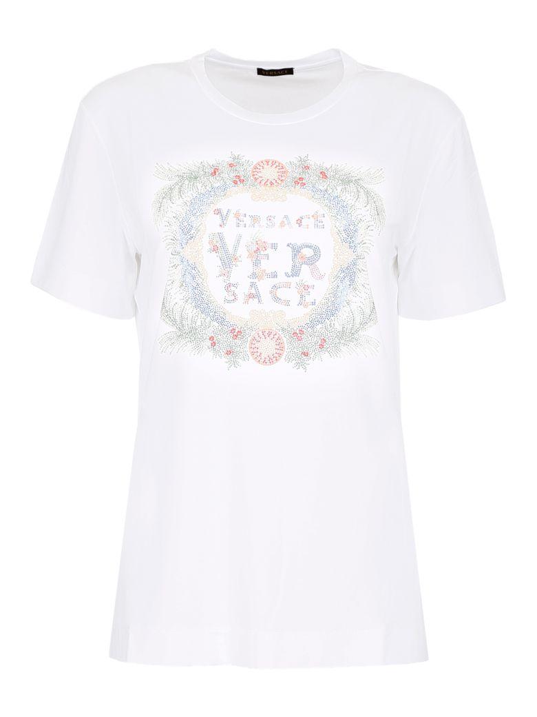 Versace Studded Jersey T-shirt - BIANCO OTTICO|Bianco