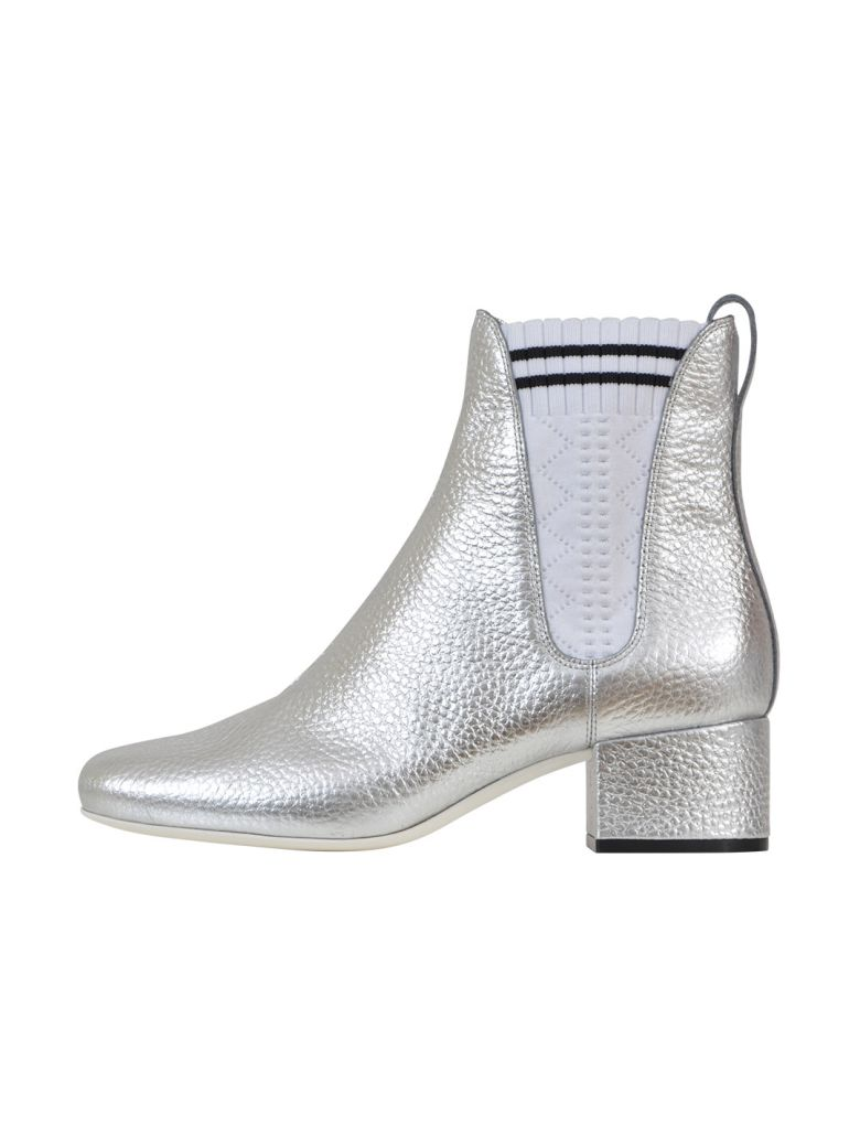 SILVER CHELSEA BOOTS