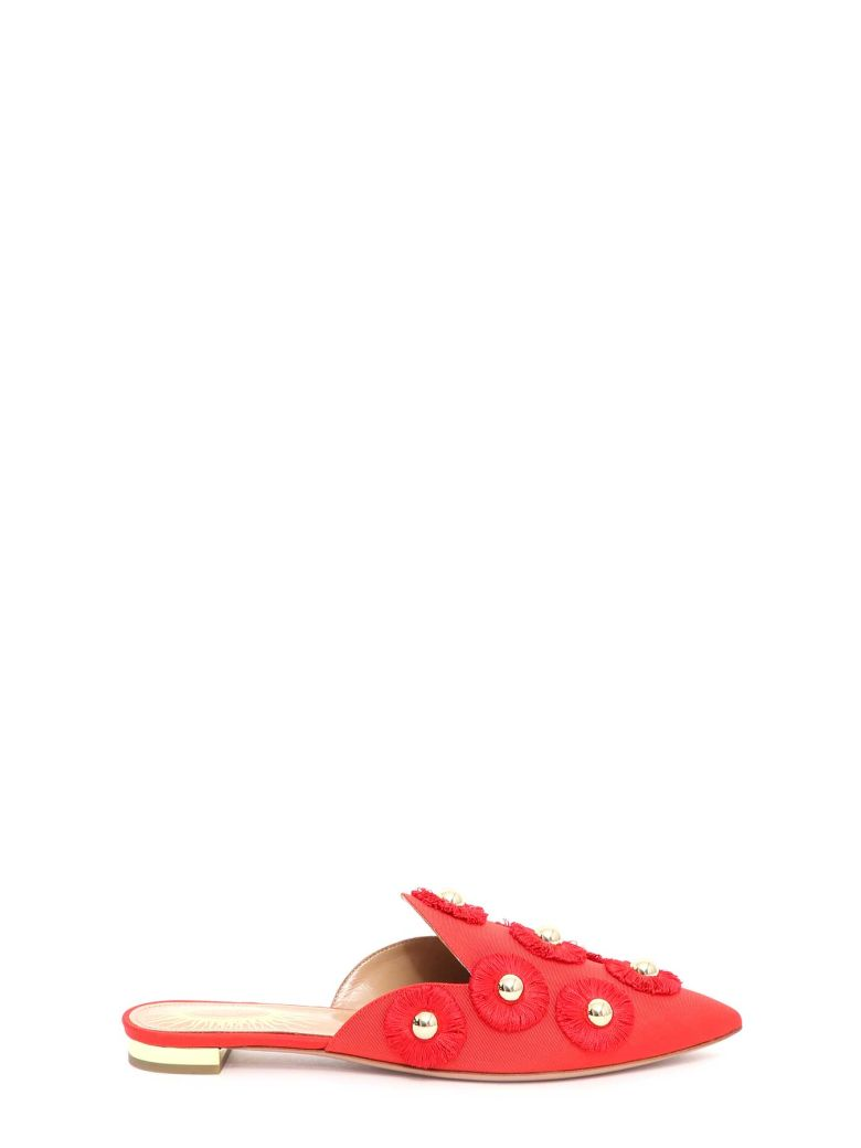Aquazzura Sunflower Slippers - Rosso