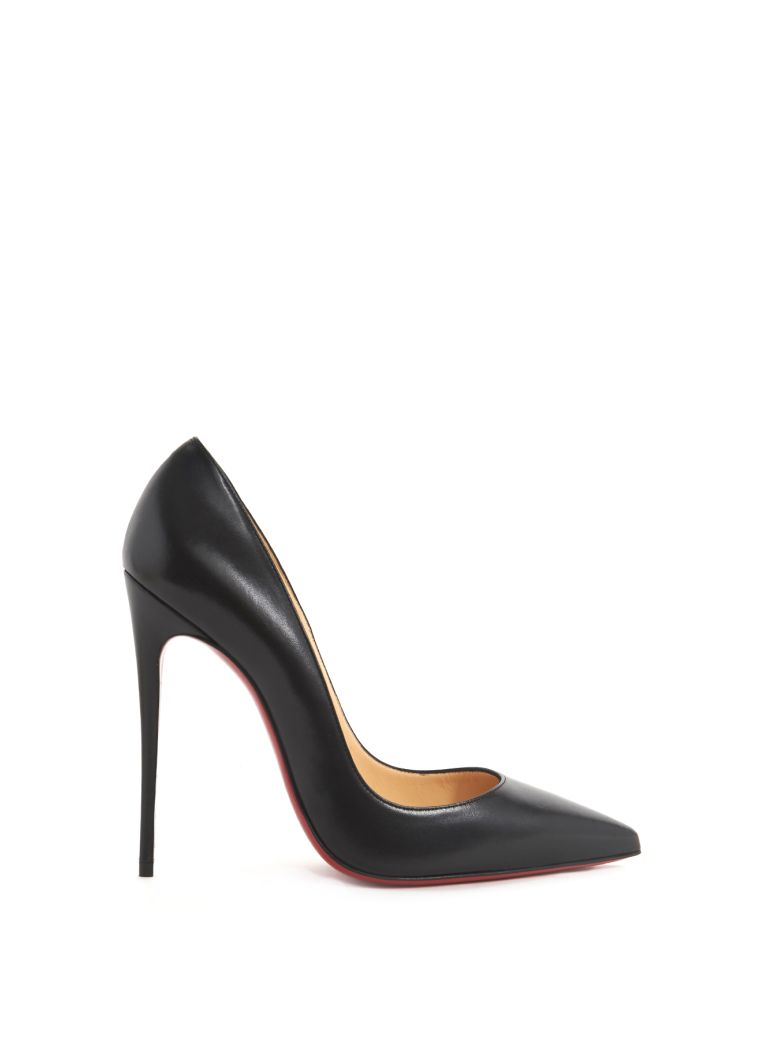CHRISTIAN LOUBOUTIN Pigalle Follies Patent Leather Pumps - Black Size 6.5