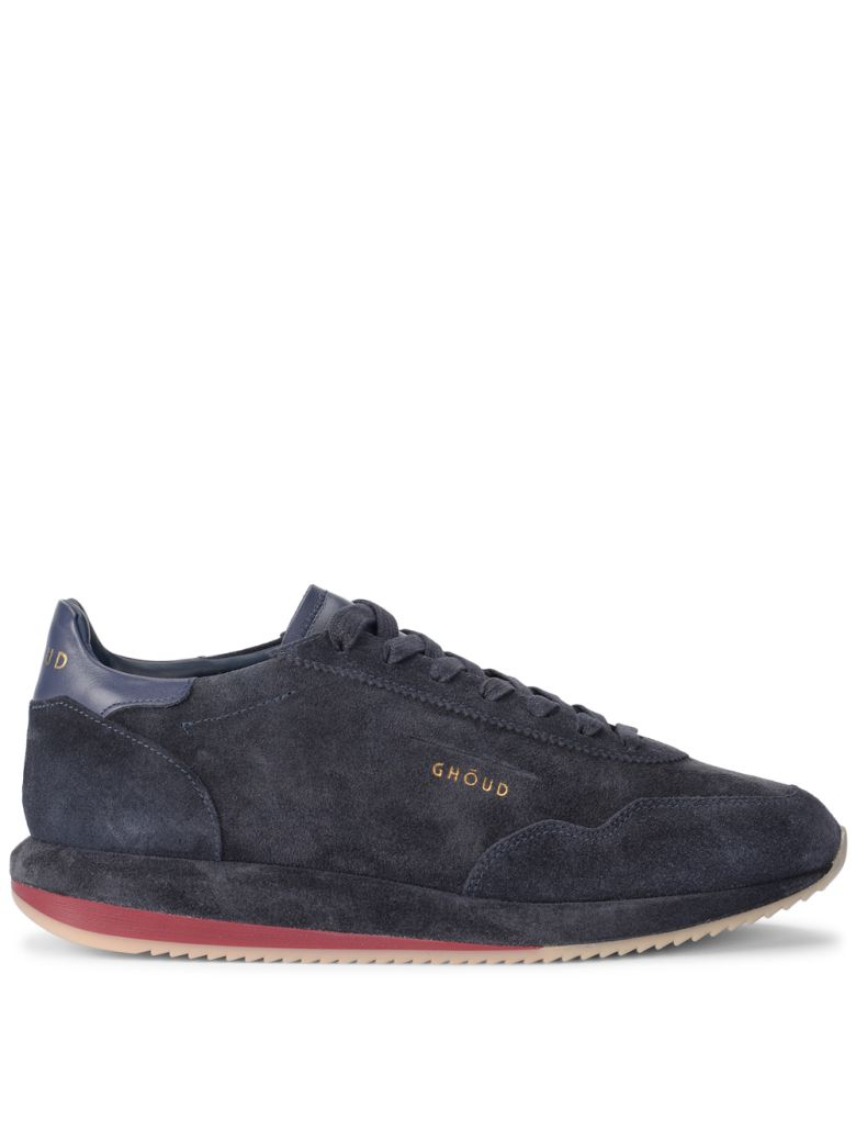 GHOUD BLUE SUEDE AND LEATHER SNEAKER