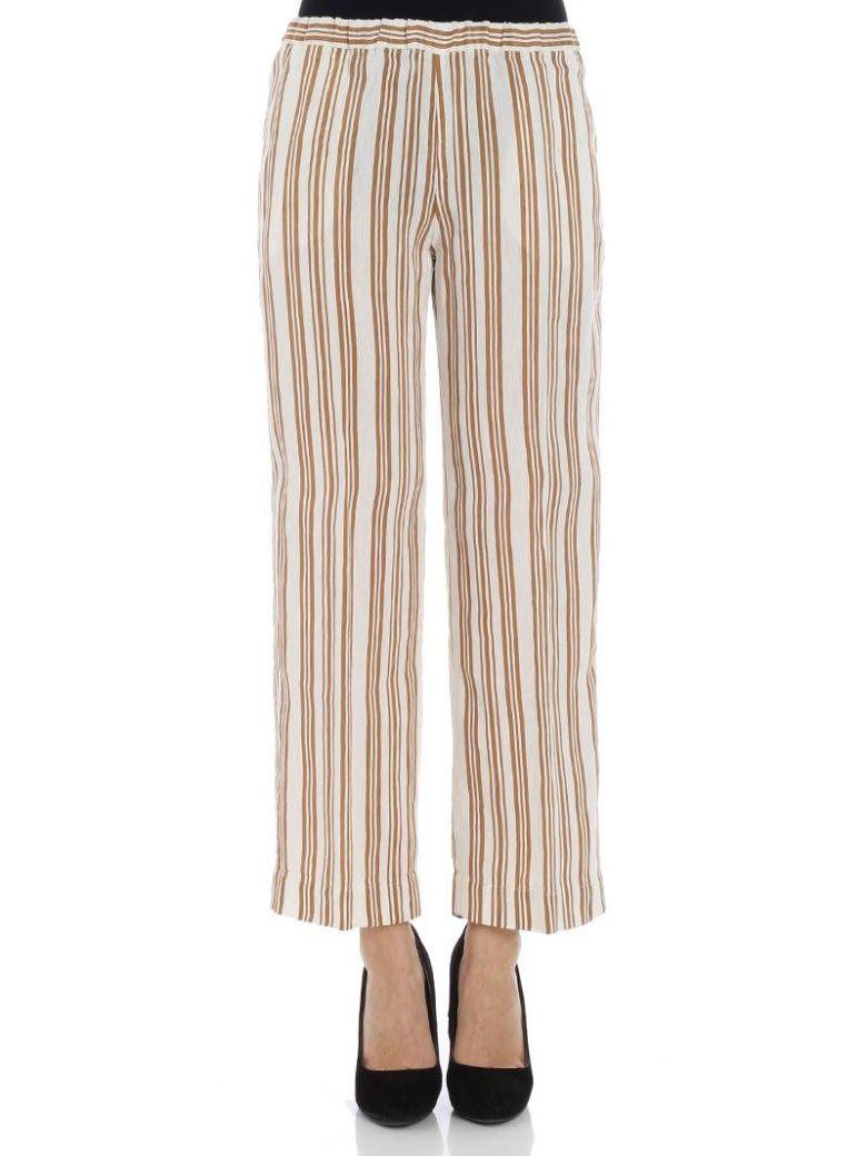 QL2 Ql2 - Portia Trousers in Rigato Beige