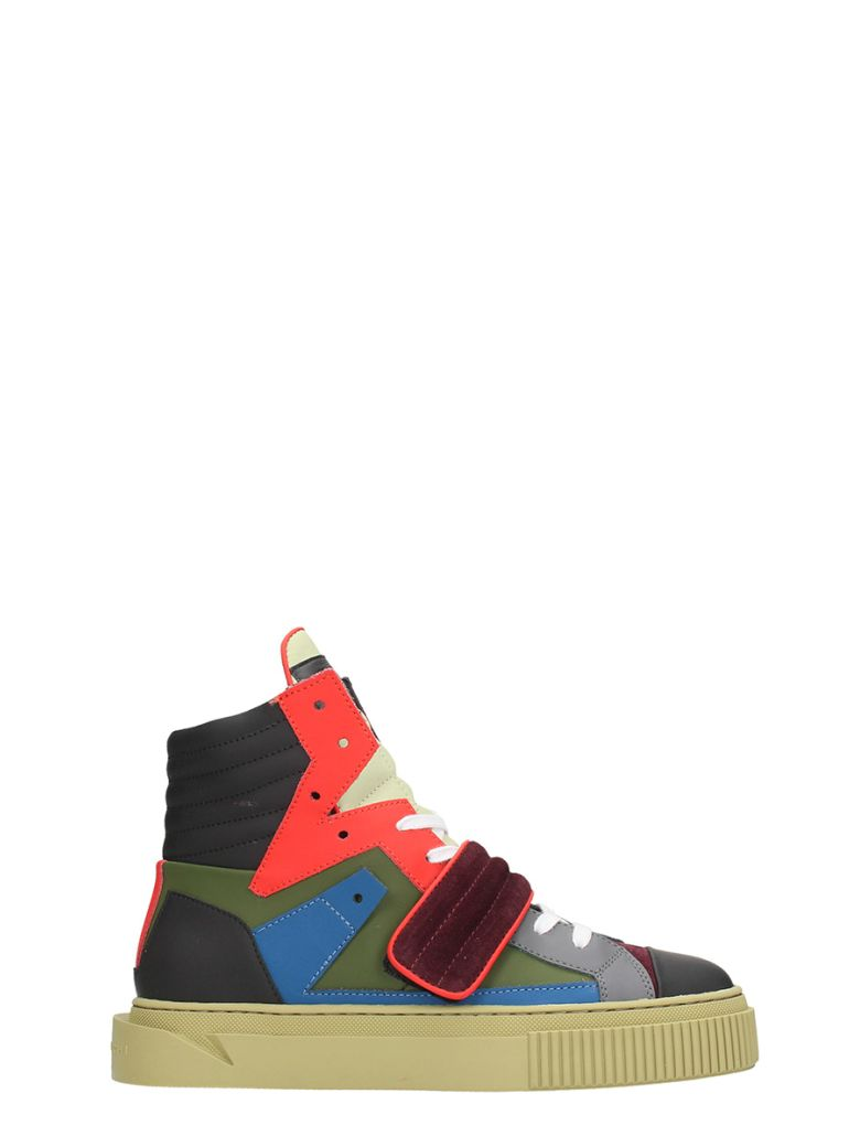 GIENCHI Hypnos Multicolor Leather And Suede Sneakers