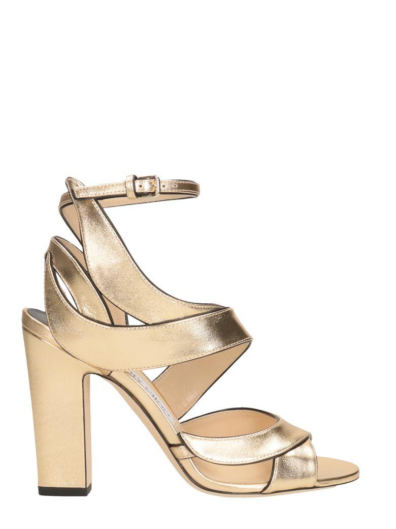 020eca46361 Jimmy Choo Falcon 100 Sandals In Gold