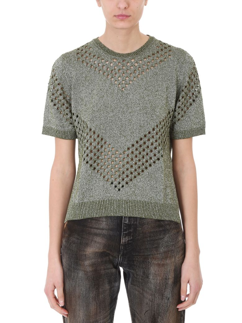 Golden Goose Amber Green Lurex Sweater - green