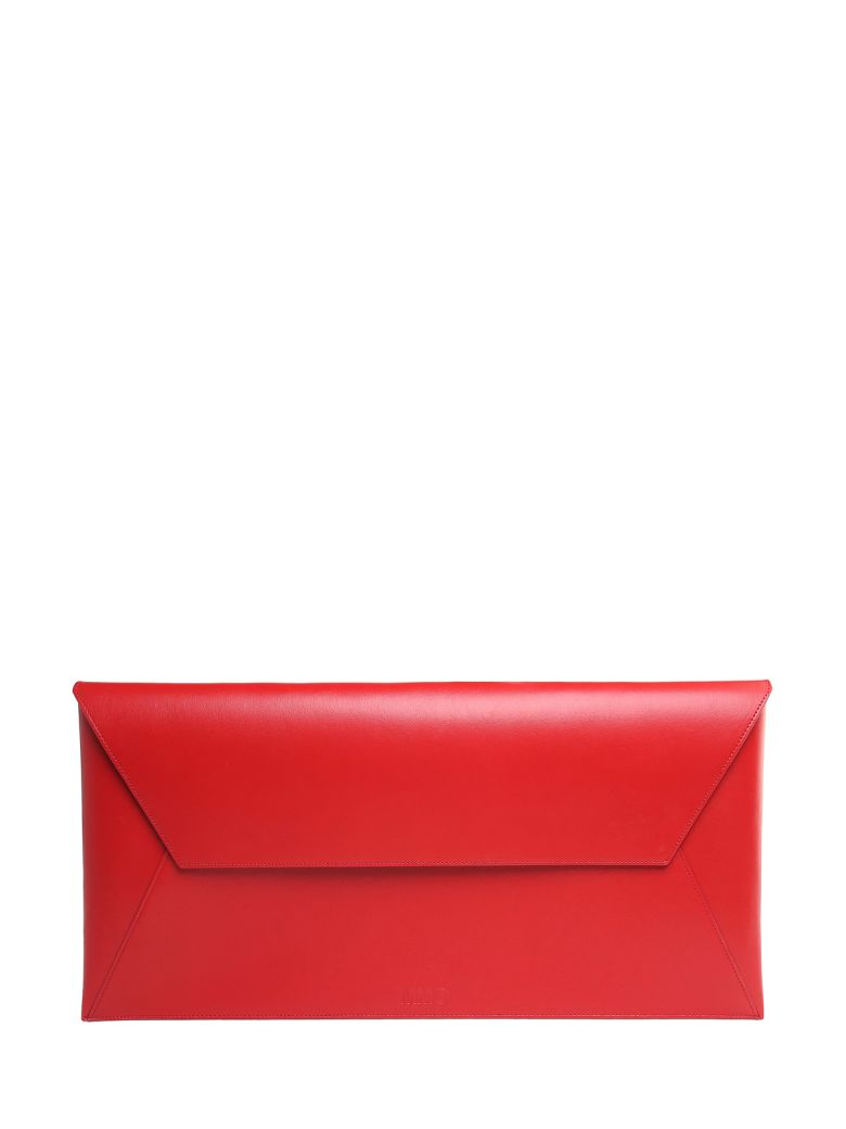 LARGE ENVELOPE SMOOTH-LEATHER CLUTCH