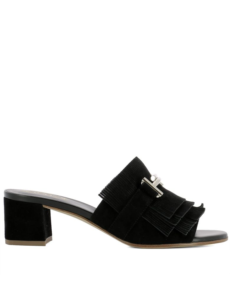 Fringed Mules - IT36 / Black Tod's pUy2dNChj
