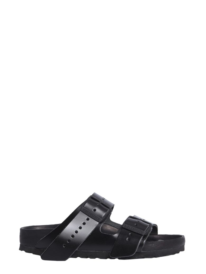 Birkenstock Black Pony Hair Arizona Sandals, Nero