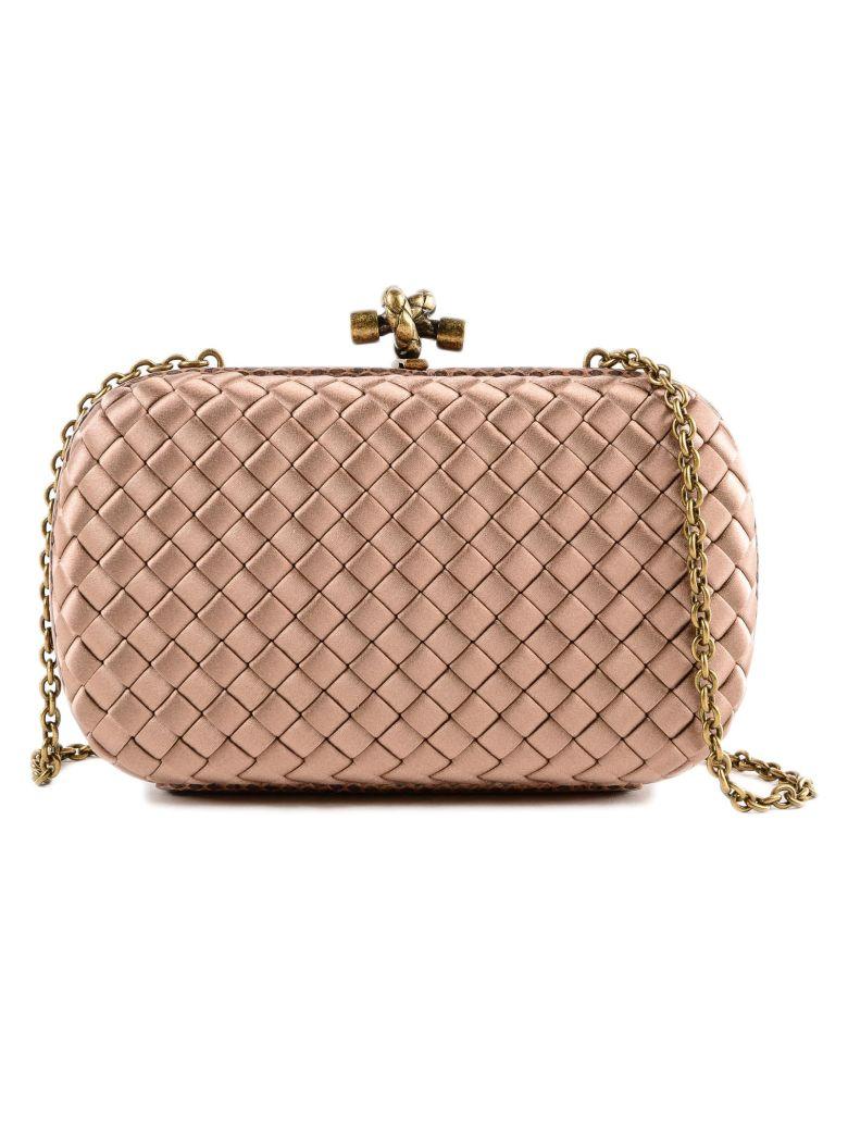 87041ede4222 Bottega Veneta Chain Knot Evening Shoulder Bag In Dahlia. SIZE   FIT  INFORMATION