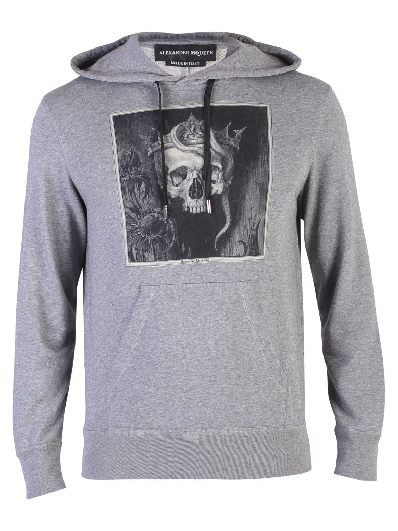 Printed Hoodie Mcqueen Loopback Cotton Mélange Alexander Jersey SH1x64w