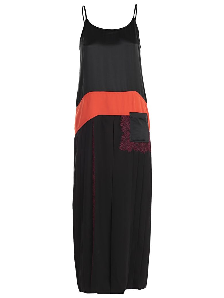Veronica Cady, Lace And Satin-paneled Pleated Crepe De Chine Maxi Dress - Black Tory Burch