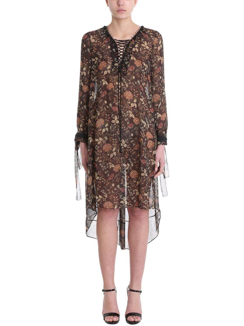 NICOLAS BESSON MANDY FLOWERS SILK DRESS