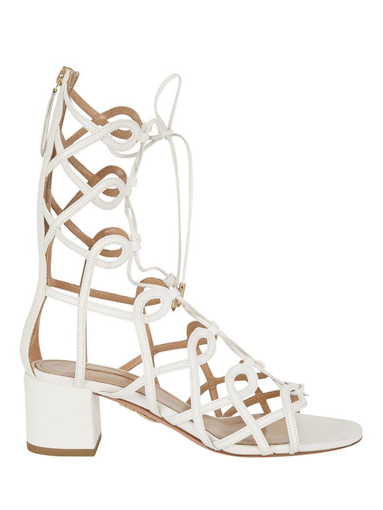 54ea64c9b24 Aquazzura Mumbai Gladiator Sandals In White