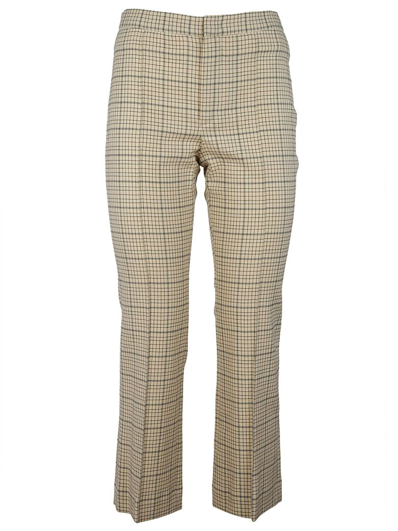 CHECKERED CROPPED TROUSERS