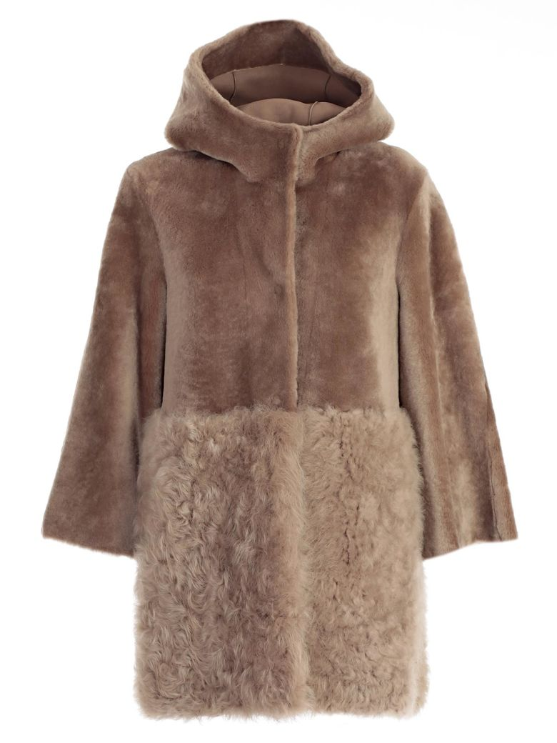 Drome DROME FURRY HOODED COAT