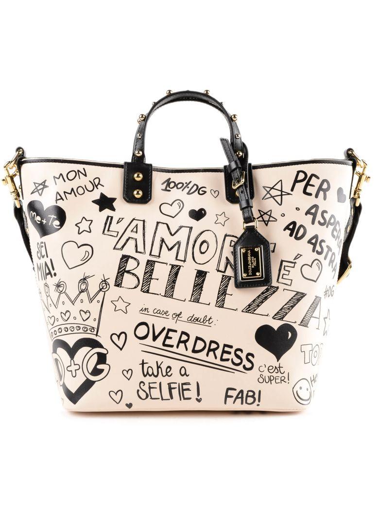 6fae5c63fd0 Dolce   Gabbana Printed Shopper Bag In Hapmurales Fdo.Panna   ModeSens