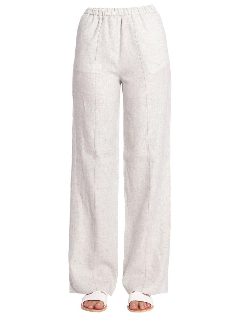 FABIANA FILIPPI Trousers With Elastic Waistband in White