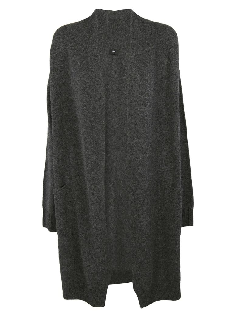 ZUCCA Open Front Cardigan in Charcoal