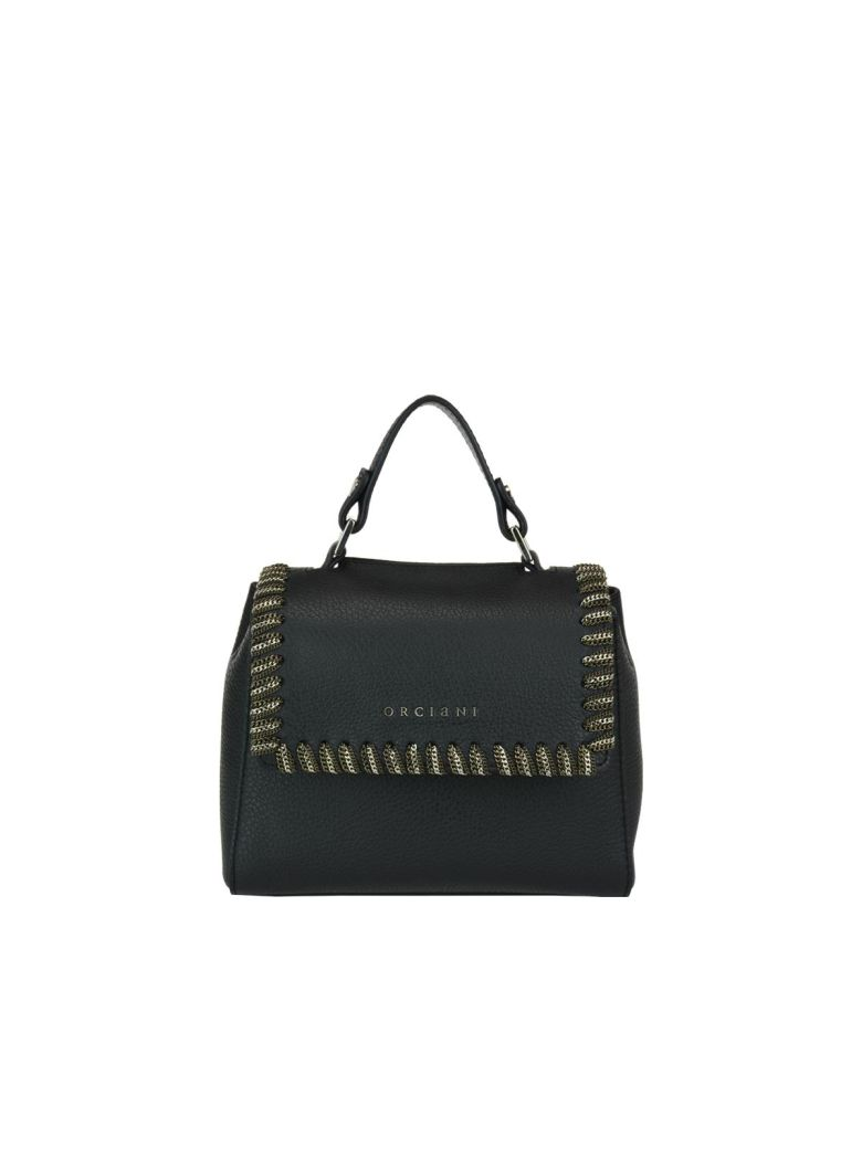ORCIANI Mini Sveva Chain Handbag in Black