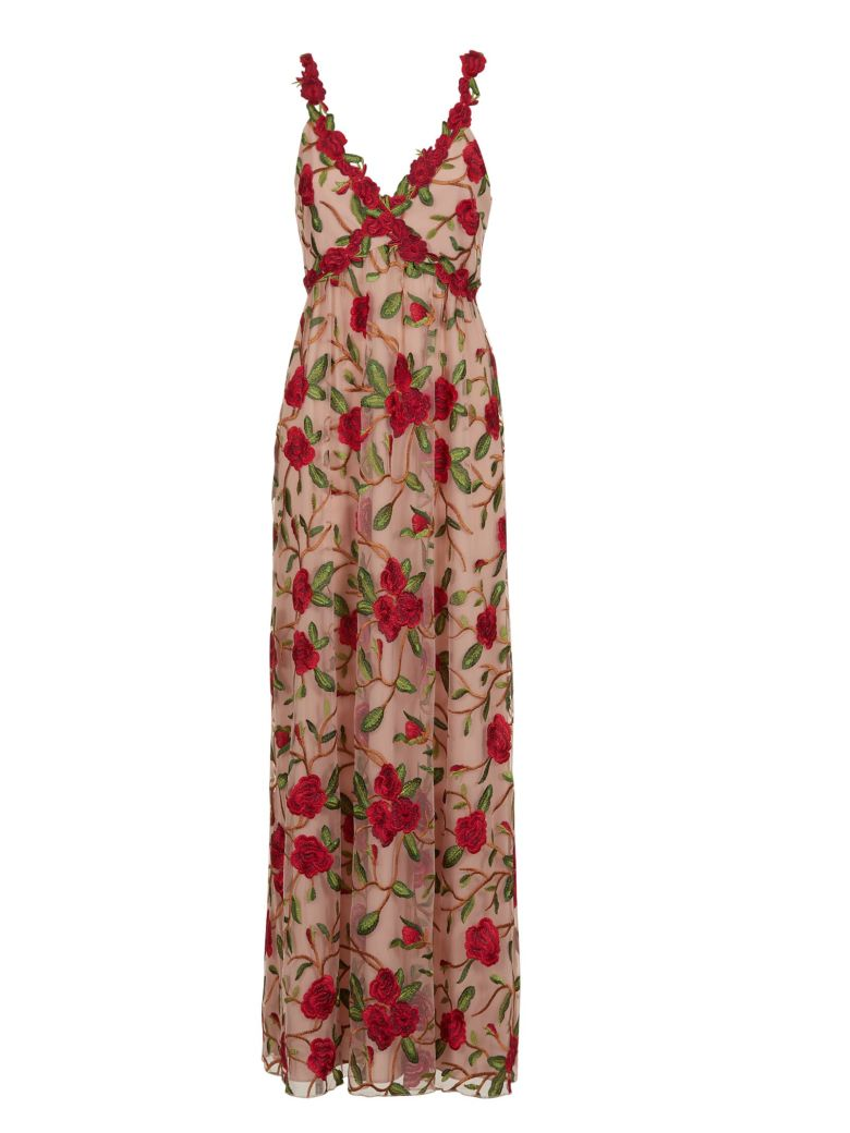 ALICE AND OLIVIA ALICE+OLIVIA FLORAL EMBROIDERED GOWN - NUDE ...