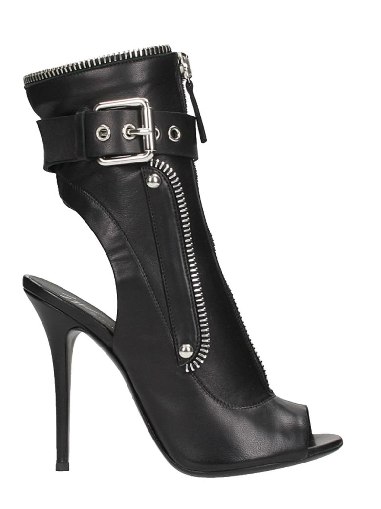 Giuseppe Zanotti Leather boot with zip and buckle KENDRA SvkvsNHg