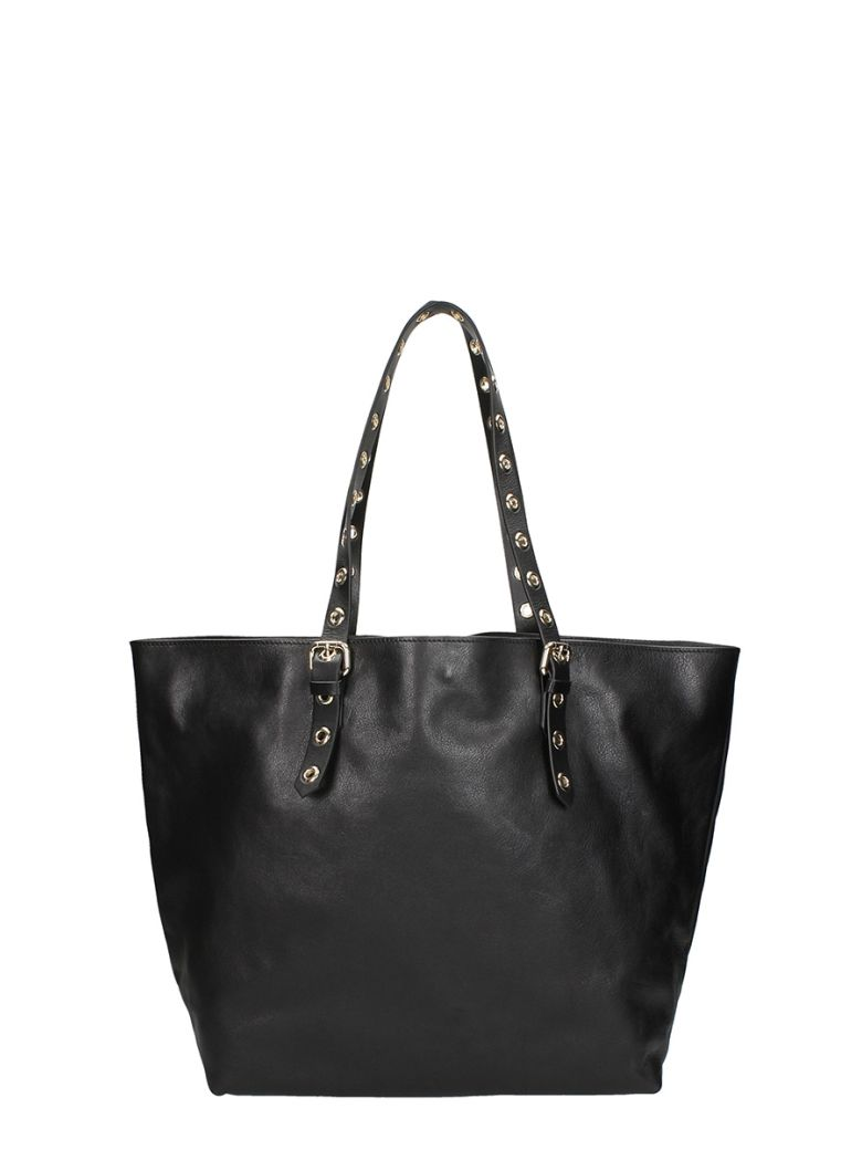 Studs Tote Bag, Black