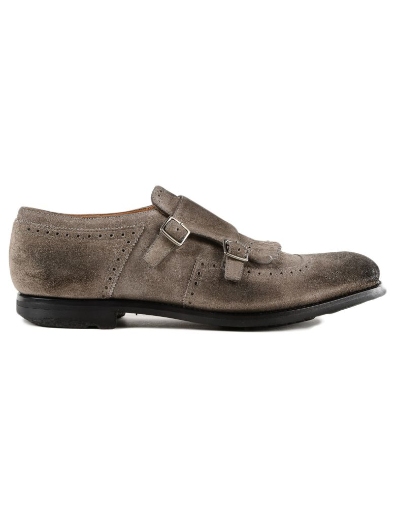 PERFORATED MONK SHOES