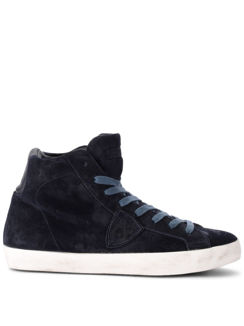 PARADIS BLUE SUEDE HIGH SNEAKER