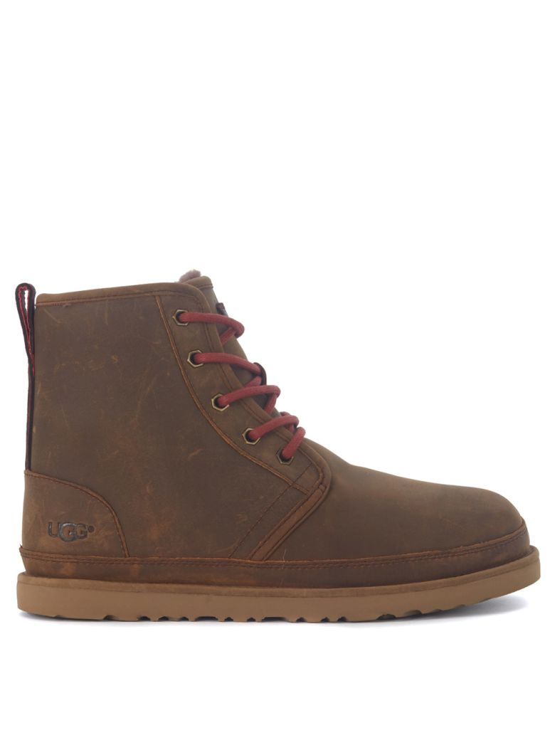UGG HARKLEY BROWN CHUKKA ANKLE BOOTS