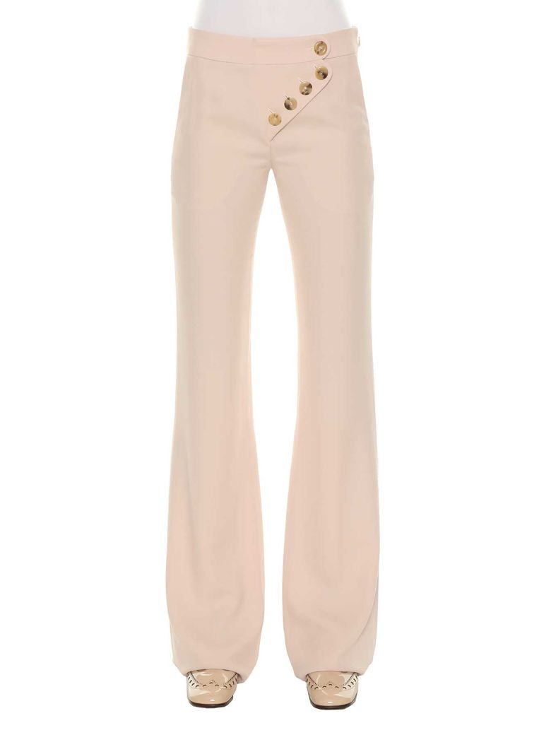 Chloé Flared Trousers - Rosa