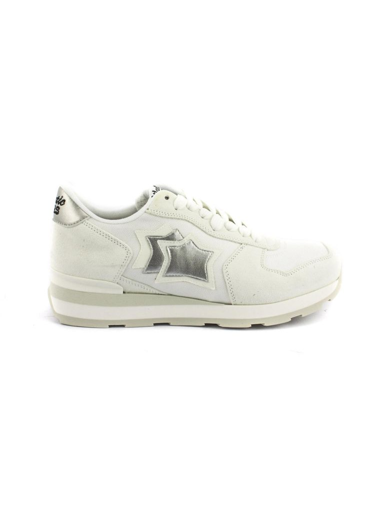 Cheap Shop Atlantic Stars Vega In White Suede And Fabric Sneaker Really Online Clearance Great Deals 9ser4