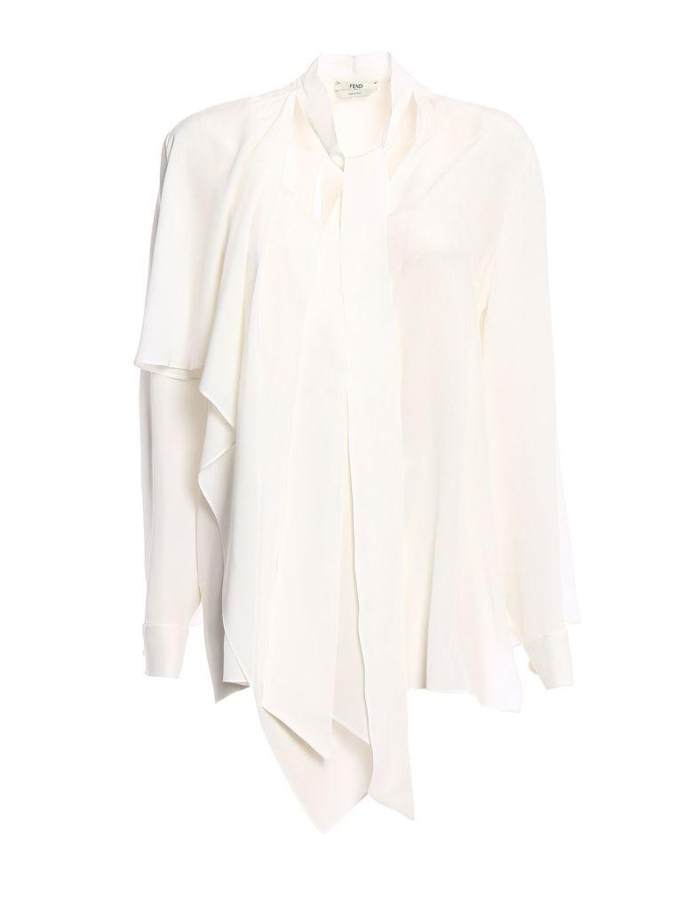 Fendi Asymmetric Layered Blouse - Znm White