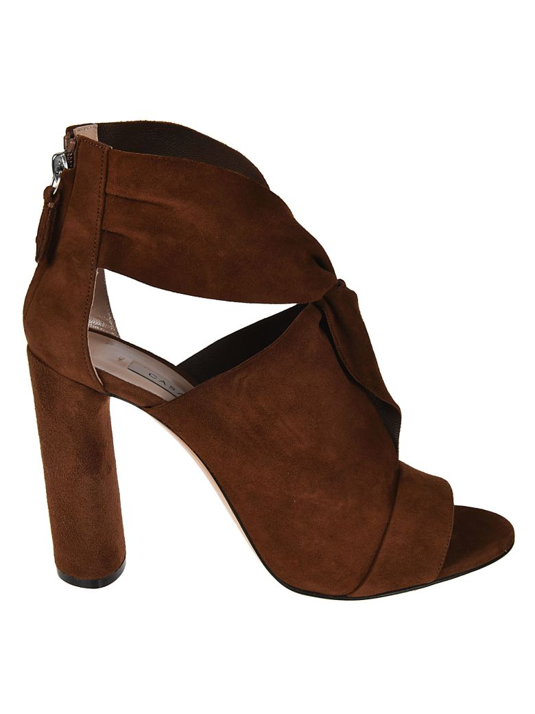 DRAPED CROSSOVER SANDALS