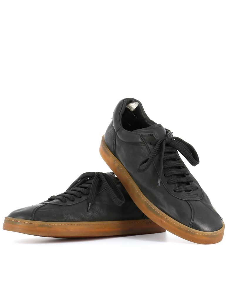 OFFICINE CREATIVE Karma Leather Sneakers, Black