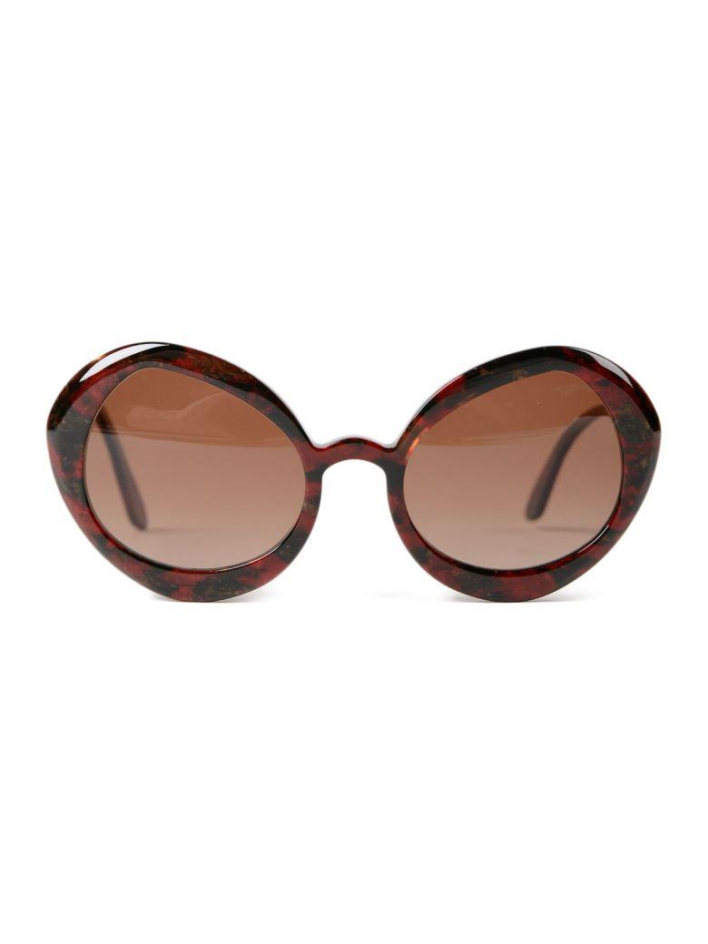 DELIRIOUS Round Frame Sunglasses in Sibilla Titania