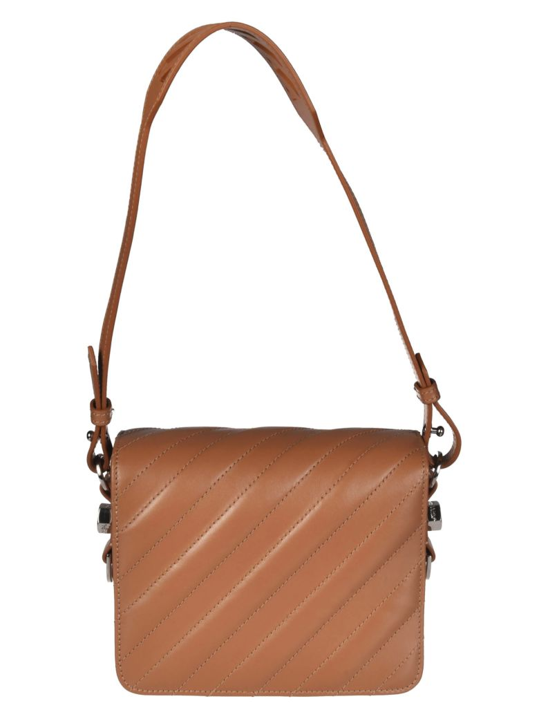 99adb98168 Off-White Leather Strap Shoulder Bag In Brown