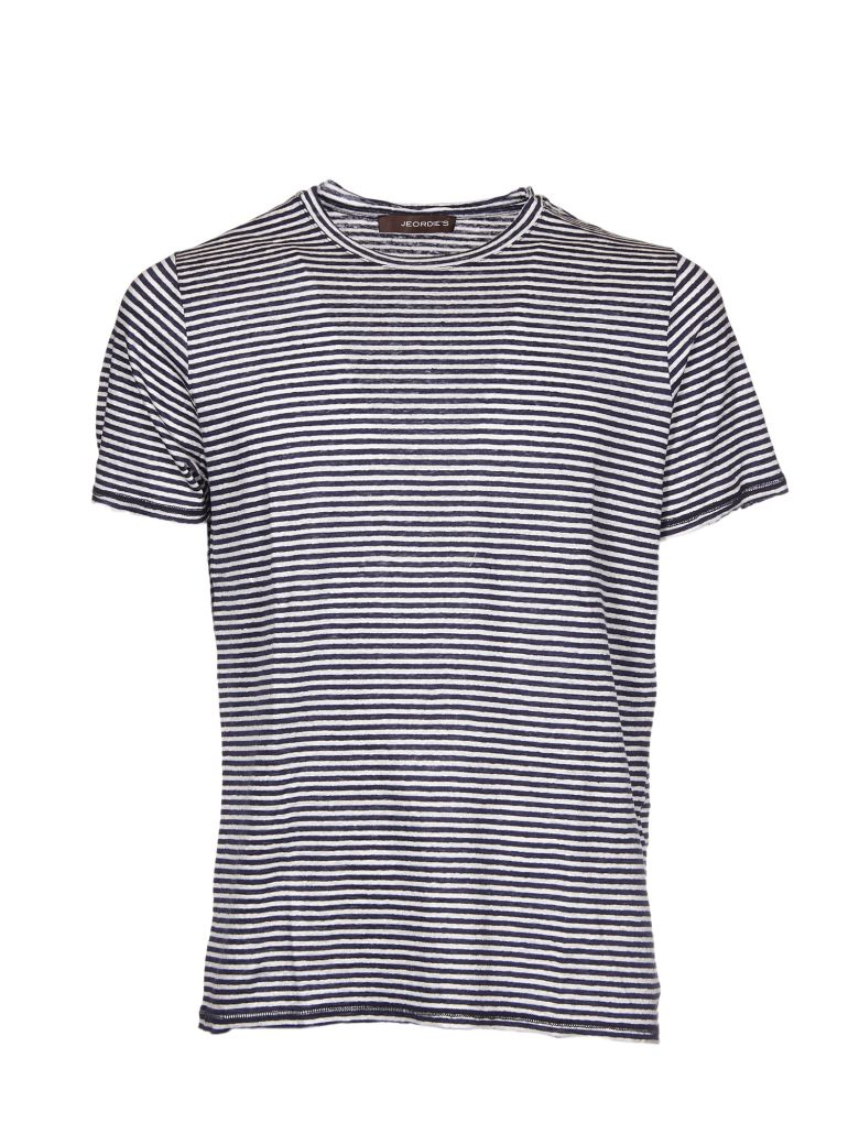 JEORDIES STRIPED PATTER T-SHIRT