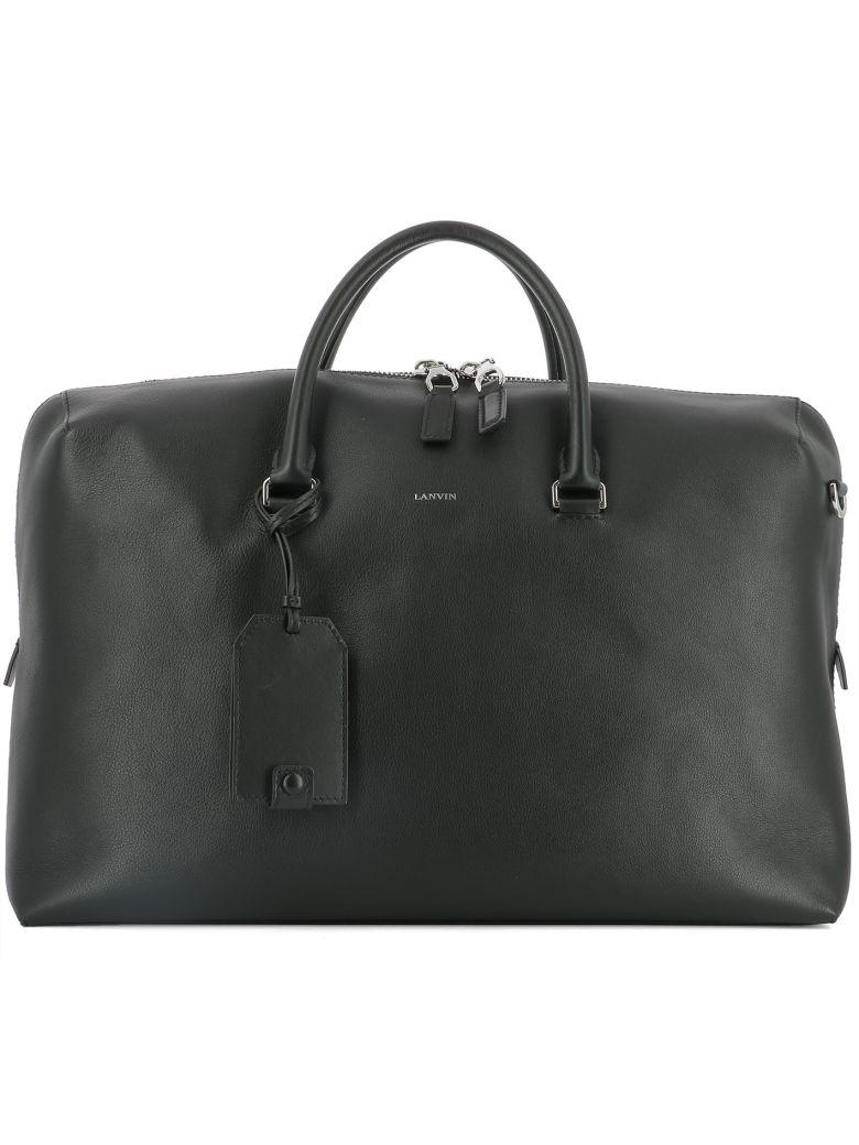 Lanvin BLACK LEATHER HANDLE BAG