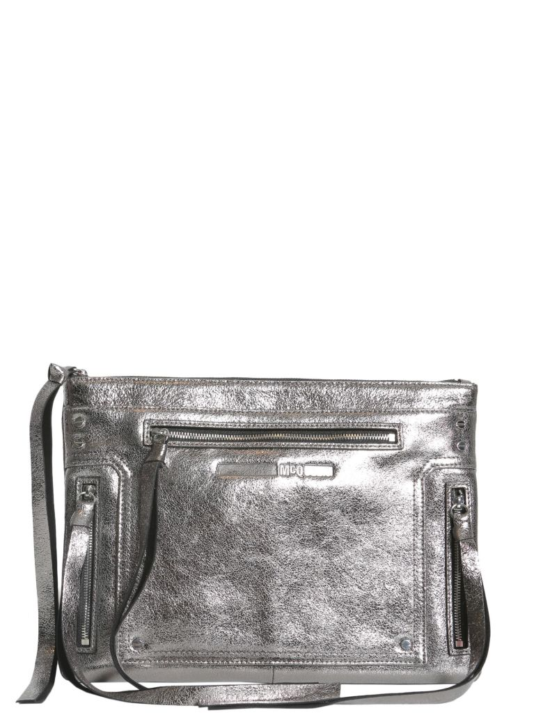 Mcq Alexander Mcqueen Woman Loveless Fringed Brushed-leather Pouch Storm Blue Size Alexander McQueen LC24N3Cii