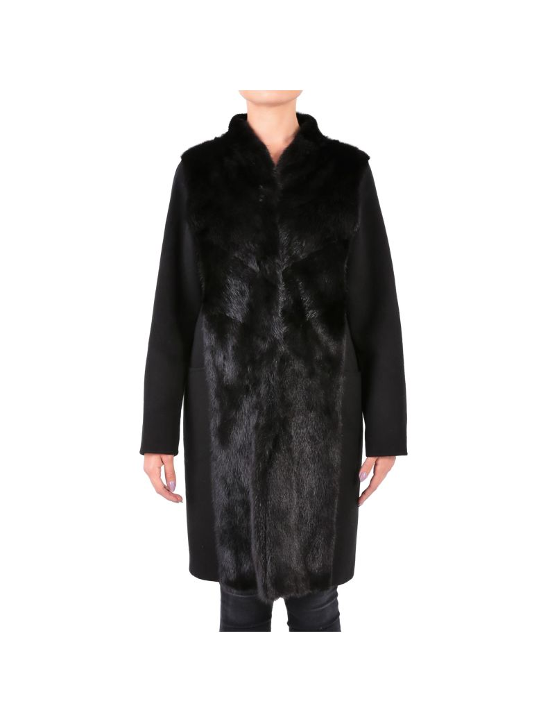 RIZAL Wool And Cashmere Coat in Black