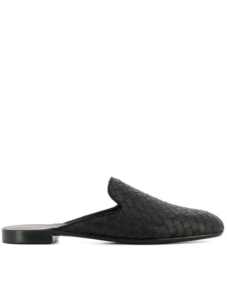 Bottega Veneta Leathers BLACK LEATHER SLIPPER