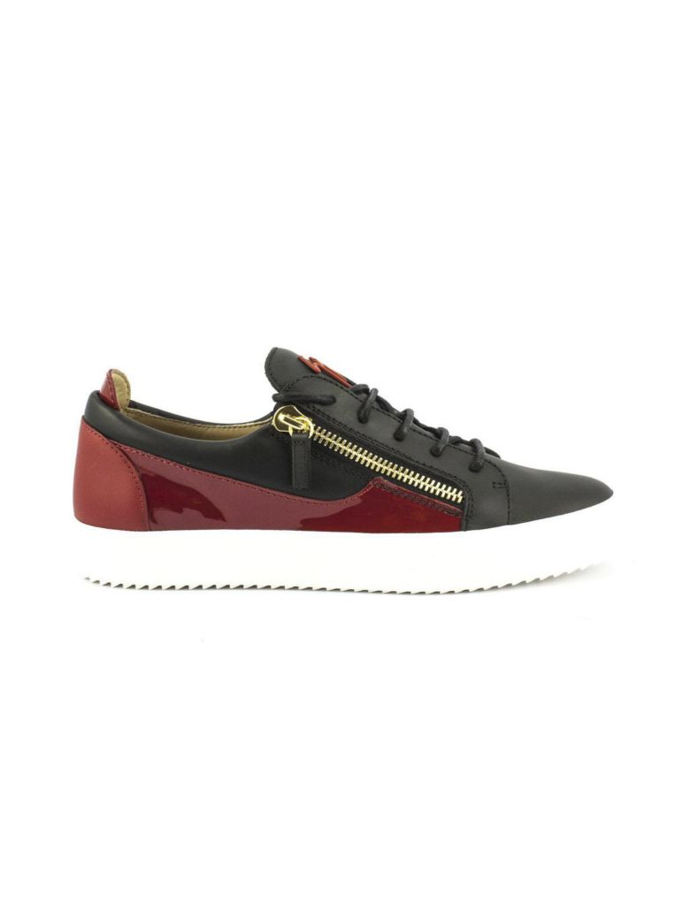 Giuseppe Zanotti Suede low-top sneaker with calfskin leather insert FRANKIE NpNBu4
