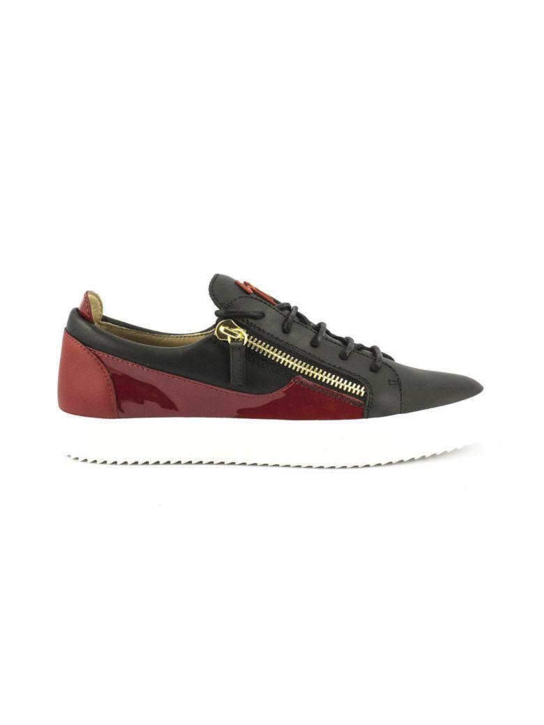 Giuseppe Zanotti Suede low-top sneaker with calfskin leather insert FRANKIE rJmYsS