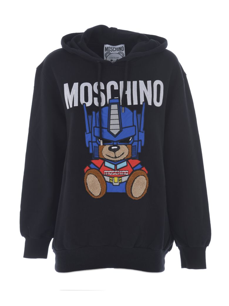 Transformer Bear Hoodie, Nero