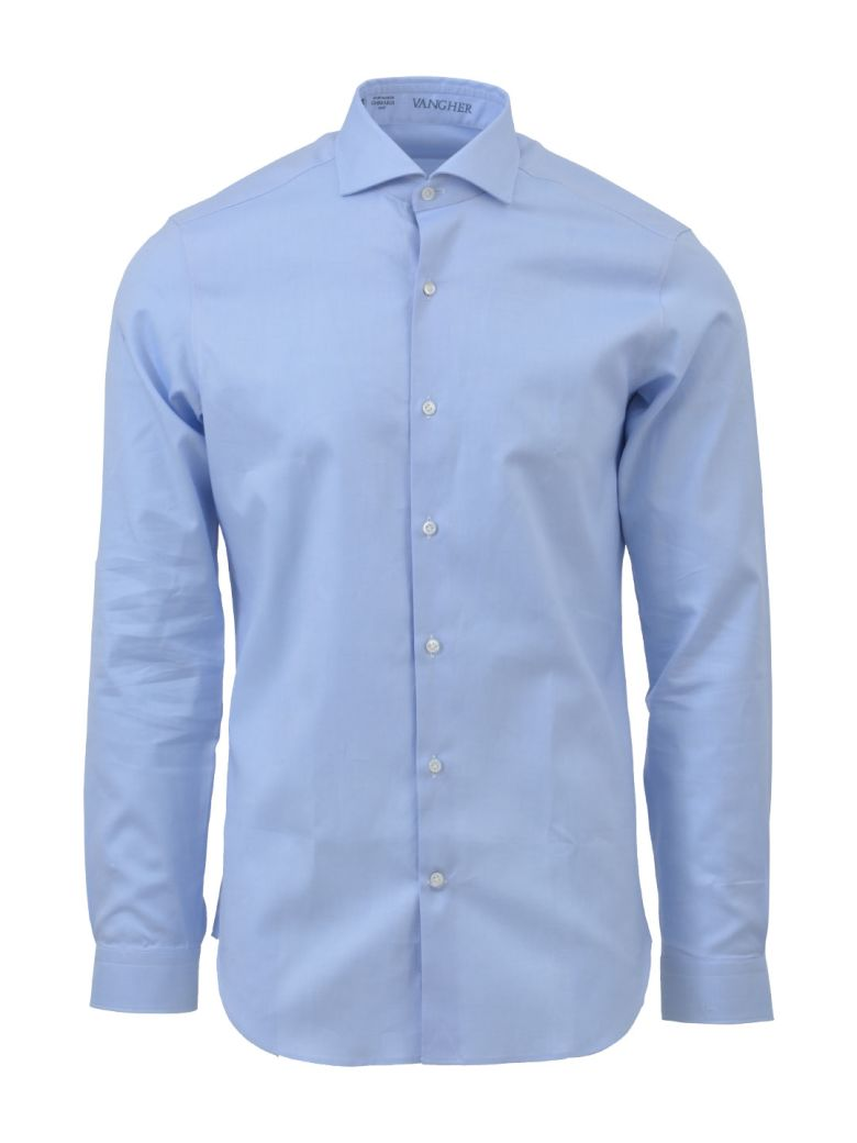 VANGHER SPREAD COLLAR SHIRT