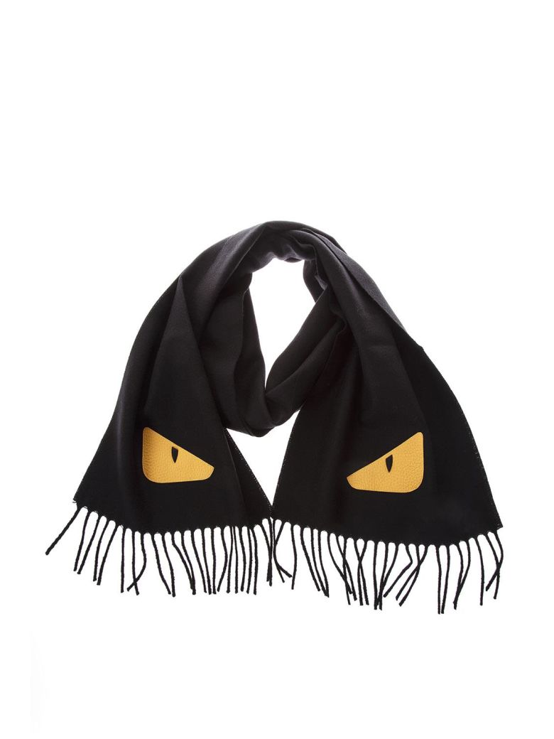 FENDI Wool Black Scarf