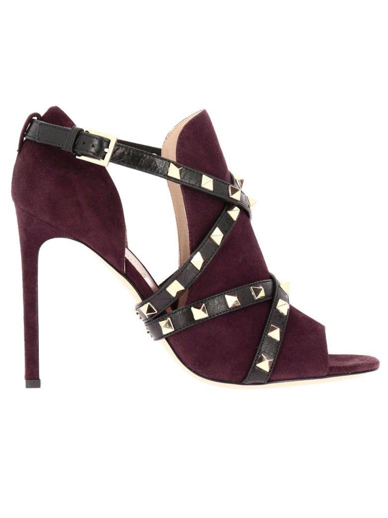 c990d9a2b083e Valentino Heeled Sandals Shoes Women Garavani In Wine
