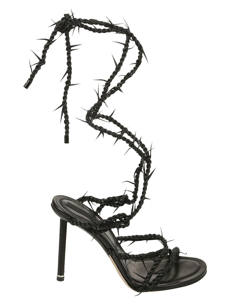 ALEXANDER WANG BLACK LEXIE BARBED WIRE HIGH HEEL SANDALS | ModeSens